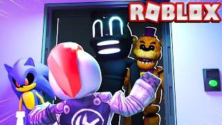 Hiding From Cartoon Cat, Freddy Fazbear, and More in Roblox Insane Elevator