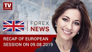 InstaForex tv news: 09.08.2019: EUR stuck in narrow range (EUR, USD, GBP, GOLD)