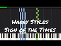 Harry Styles - Sign of the Times Piano Tutorial