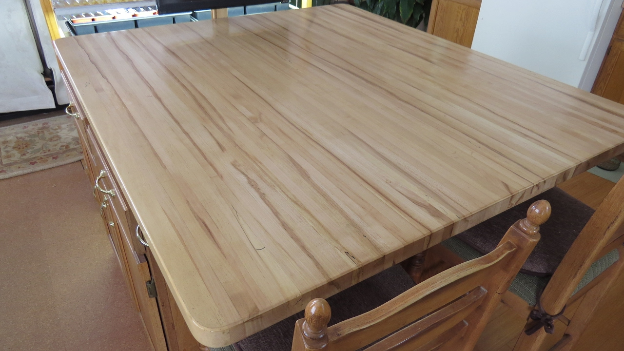 Building Butcher Block Counter Tops From A Back Yard Maple YouTube