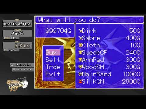 Questing For Glory 3:  Breath Of Fire (GBA) Any% By Noraystra