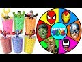 Spiderman and Marvel Avengers Spin the Wheel Game with Beads Surprise Cups