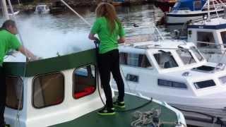 Båt Dampvask i Tananger Havn