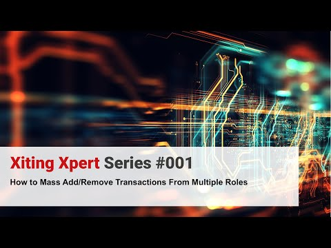 How to Mass Add/Remove Transactions from SAP roles [Xiting Xpert Tip #001]