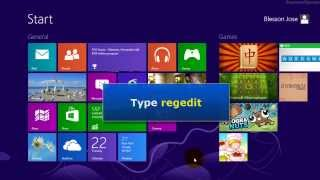 Windows 8 - How to open registry editor (regedit)
