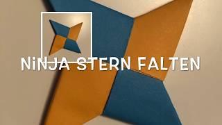 Ninja Stern aus Papier basteln Shuriken - How to make a Ninja Star Origami - DIY Paper Craft