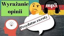 wyrażanie opinii - Przydatne zwroty - język niemiecki - gerlic.pl