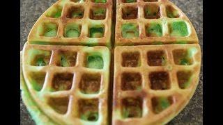 Green Pandan Waffle