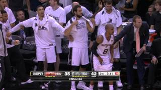 Manu Ginobili's Monster Drive and Poster Dunk