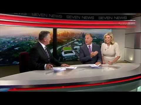 Seven News Melbourne Weather With Rebecca Maddern And