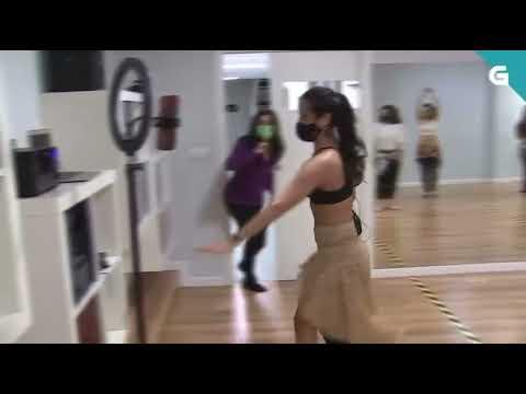 Angelina Masud en la TVG. Danza Oriental Coruña