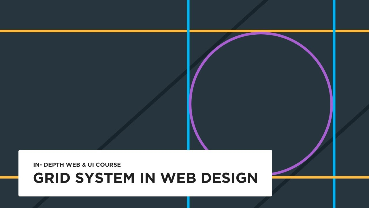 Grid System In Web Design Ui Design Tutorial Youtube