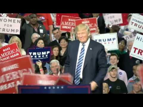 Donald Trump Removes the Teleprompter in Charlotte 10/14/16