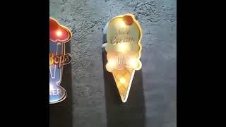 바 벽걸이 네온사인 카페 LED 조명 벽장식 조명안내판
