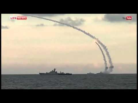 Каспийская флотилия наносит удар крылатыми ракетами по боевикам в САР