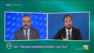 Marattin e Borghi discutono sul debito pubblico: Marattin, i tuoi assistenti ti hanno portato ...