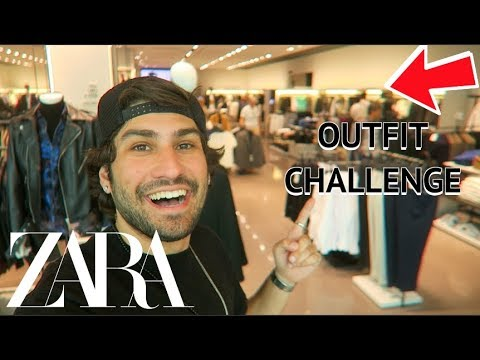 ZARA MEN OUTFIT CHALLENGE! Trying On Different Outfits!!