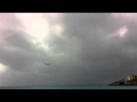 Anguilla Air Services Britten-Norman BN-2A Islander landing St.Maarten.