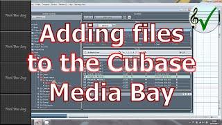 Adding Media Into Cubase's Media Bay