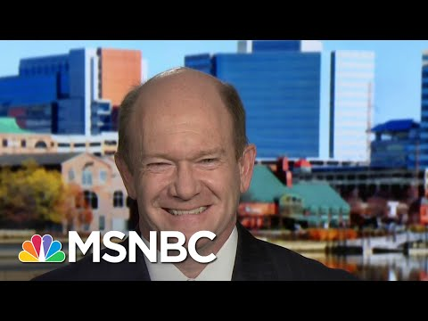 Sen. Coons: 'We're Very Optimistic' About Biden's Prospects | Andrea Mitchell | MSNBC