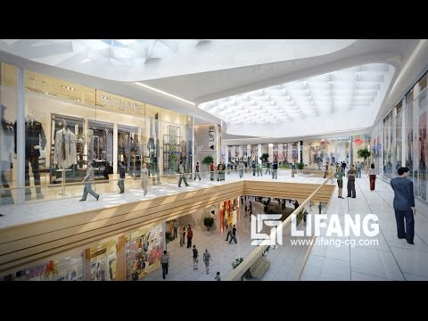 Okern Architectural 3D Walk-throught Animation for  Shopping Center/Commercial Center