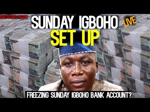 Sunday Igboho SET UP!Sunday Igboho Bank Account Block Plan