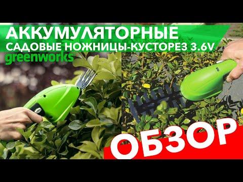 Садовые ножницы-кусторез аккумуляторные Greenworks 3,6V