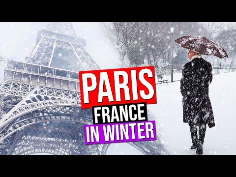 PARIS IN WINTER under the SNOW | France (Snowfall in Paris)