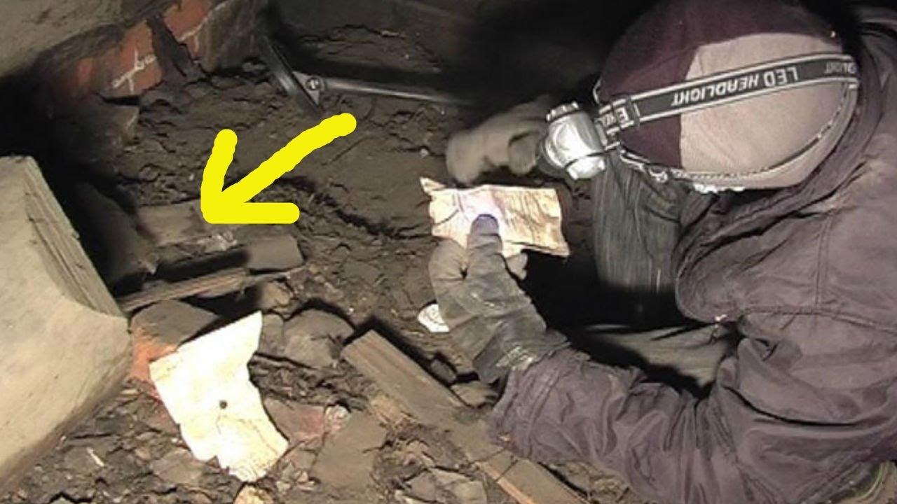 Кладоискатели нашли клад на чердаке.