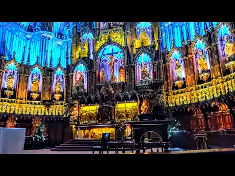 Notre-Dame Basilica In Old Montreal (Montreal, Quebec, Canada)