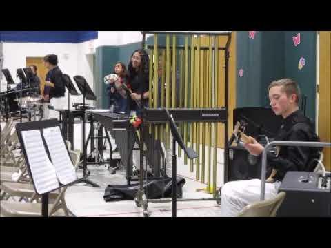 Heritage Intermediate School Hawk Jazz Band Rhythm Section Percussion Orchestra April 3 2019 Spring