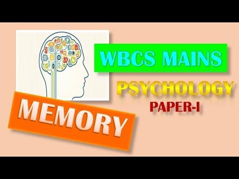 PSYCHOLOGY PAPER I FOR WBCS MAINS