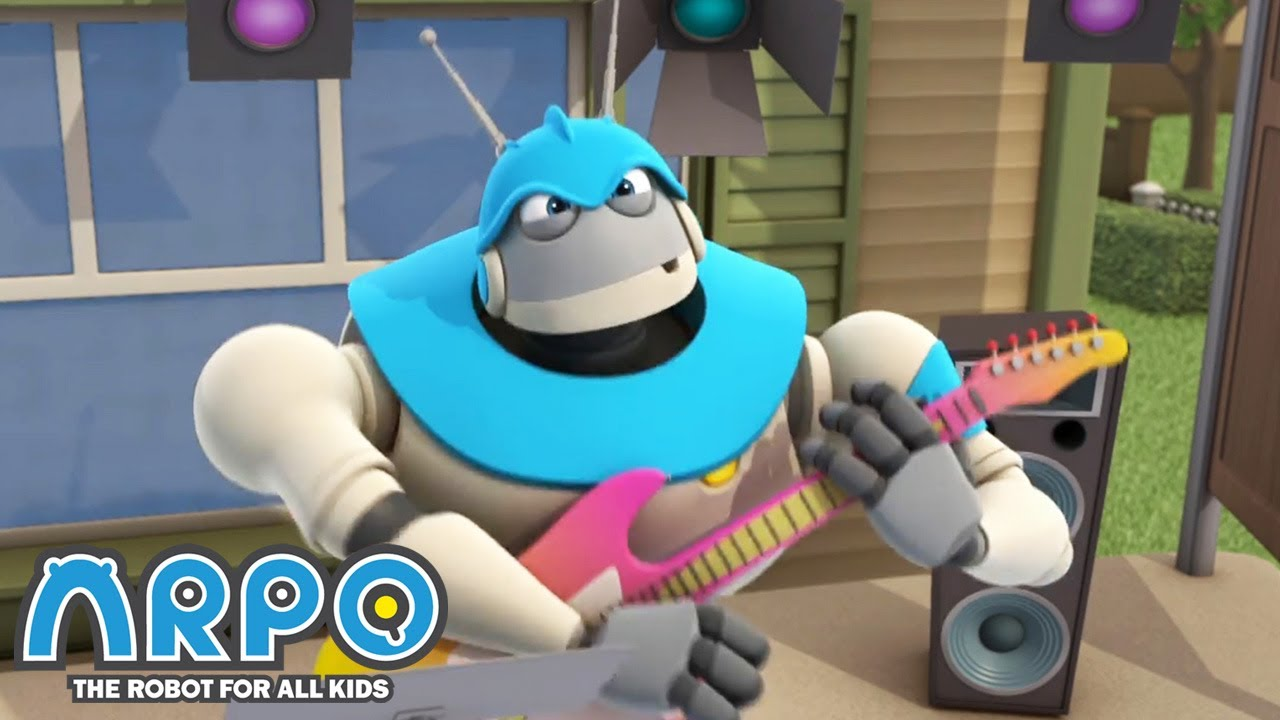 Arpo plays the ROCK GUITAR - ARPO the Robot | 에피소드를보고 | Cartoons for Kids | Robot Animation