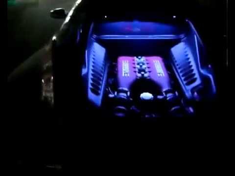 Ferrari 485 Italia with Crazy lights   تعديل سياره فراري 458   YouTube