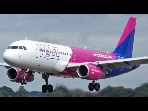 London Luton Airport Plane Spotting Wizz Air Airbus A320 Sharklets Wizzair Hungary Planes