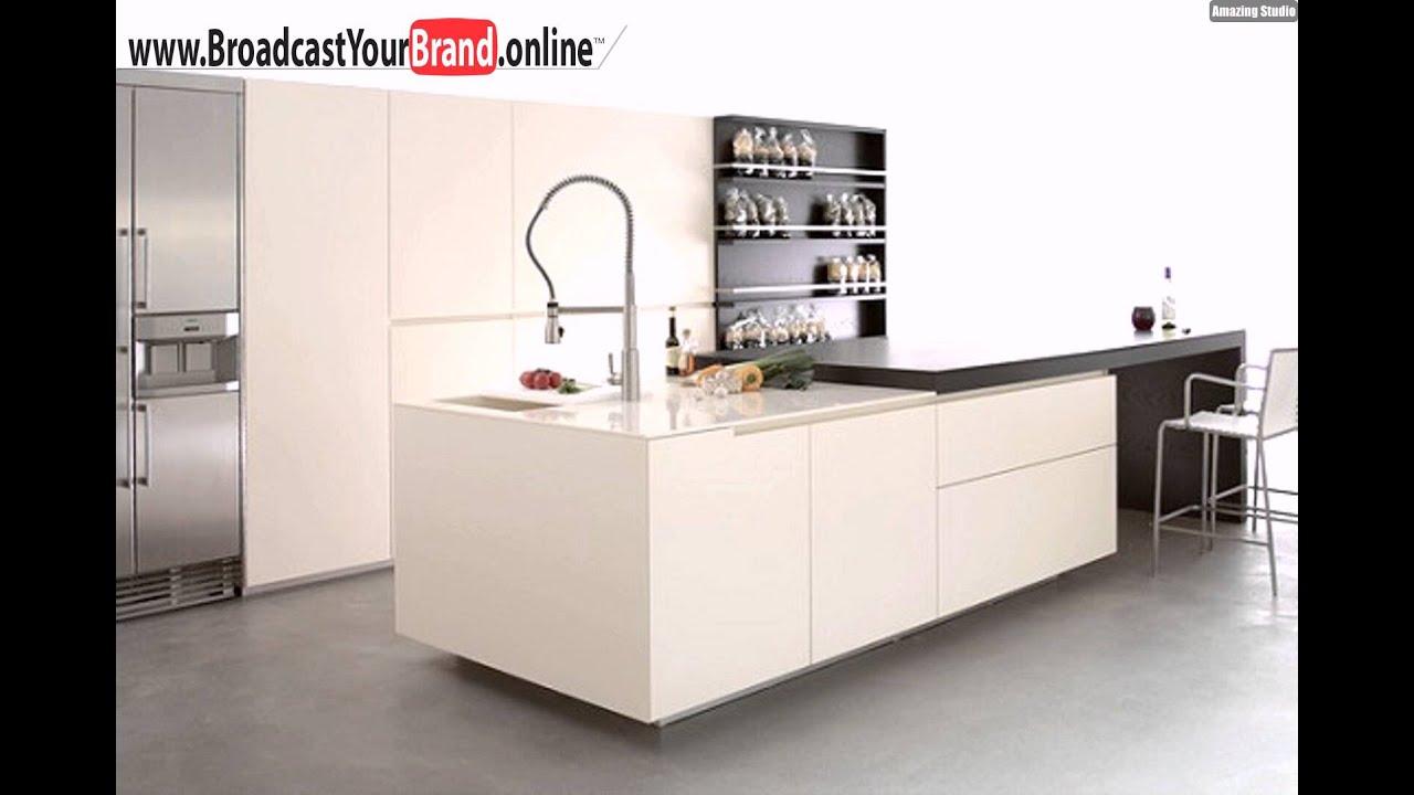 schwarz weiße küche barstühle - youtube