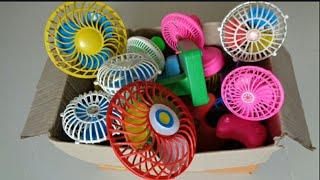 Box full of toys mini fan