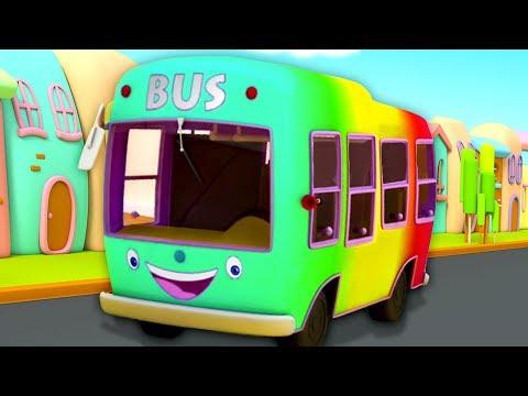 Wheels On The Bus | Nursery Rhymes For Children - Bob The Train Cartoons
