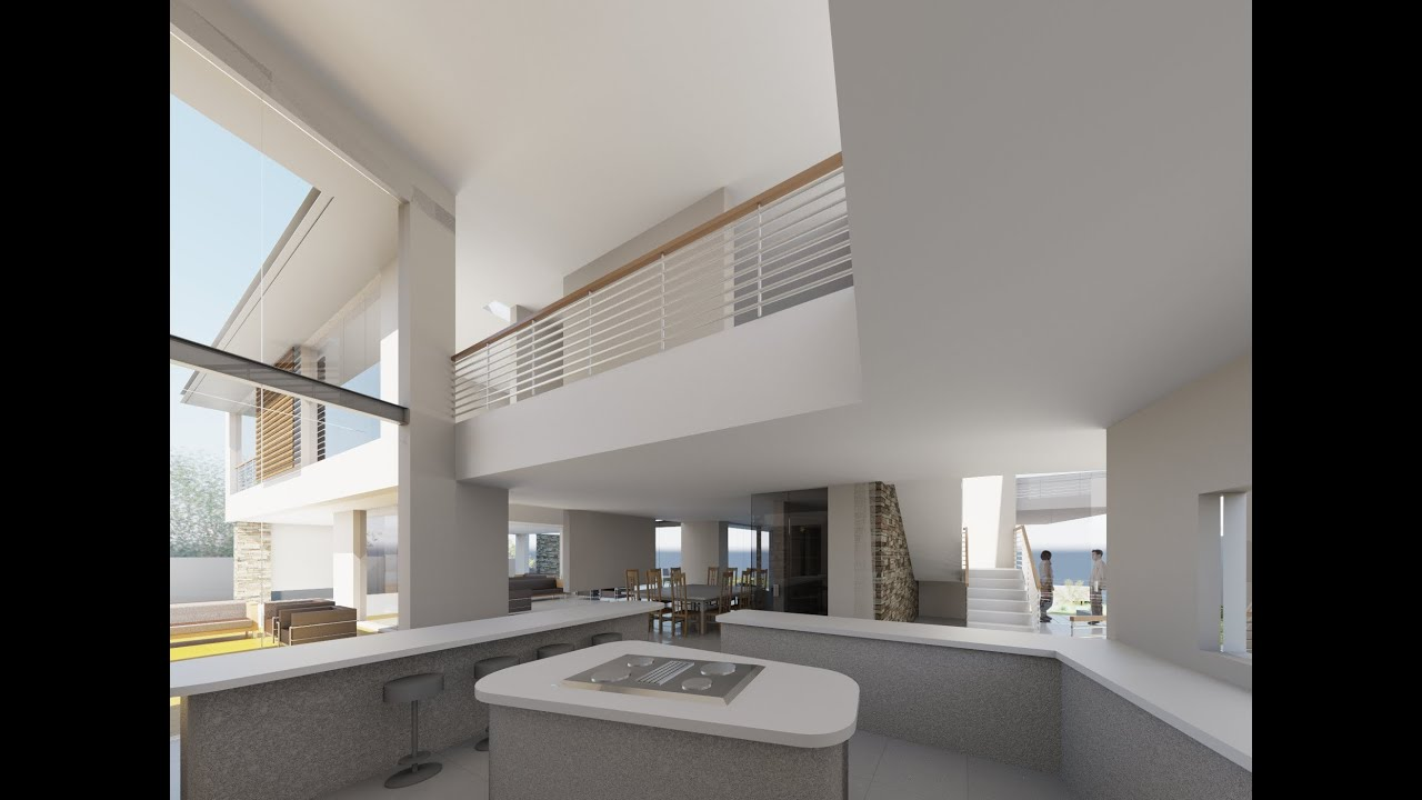 Revit showcase animation house design plans see the for Revit architecture modern house design