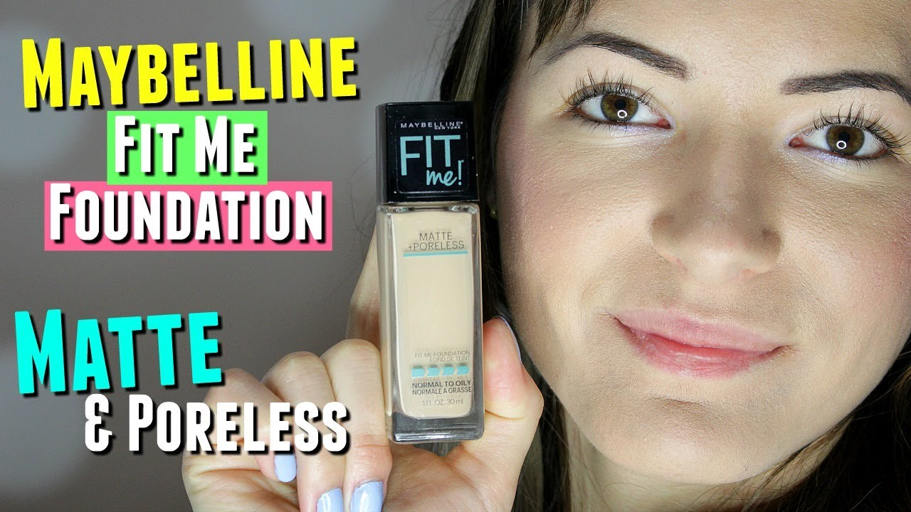 Maybelline Fit Me Matte And Poreless Foundation Review Airyrooms 30ml Demo