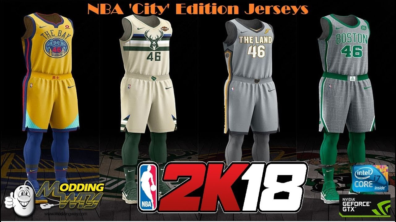 a6ef0e1d1a59 Nba 2k18    NBA Nike City Edition Jerseys    60 Fps Gameplay - YouTube