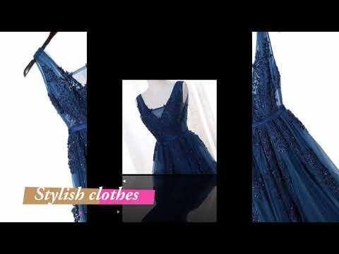 blue-dress-design---blue-dress-for-girls---navy-blue-long-dress---navy-blue-dresser--