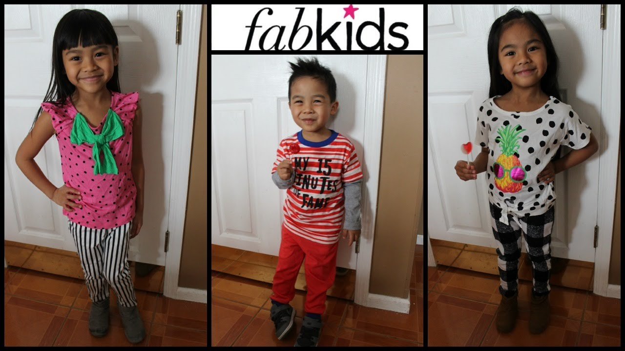 4e936bd06c93 FAB KIDS HAUL - February Picks (3 outfits) - YouTube