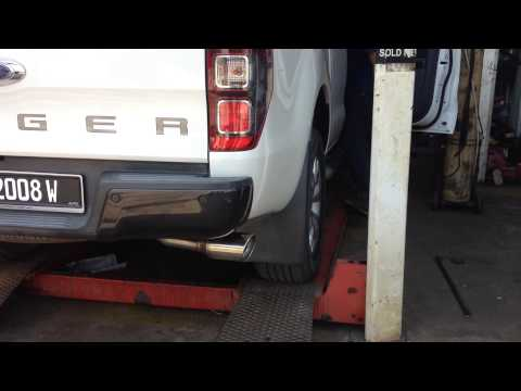 Marco Full Exhaust System Turbo-back Ford Ranger T6 3.2L