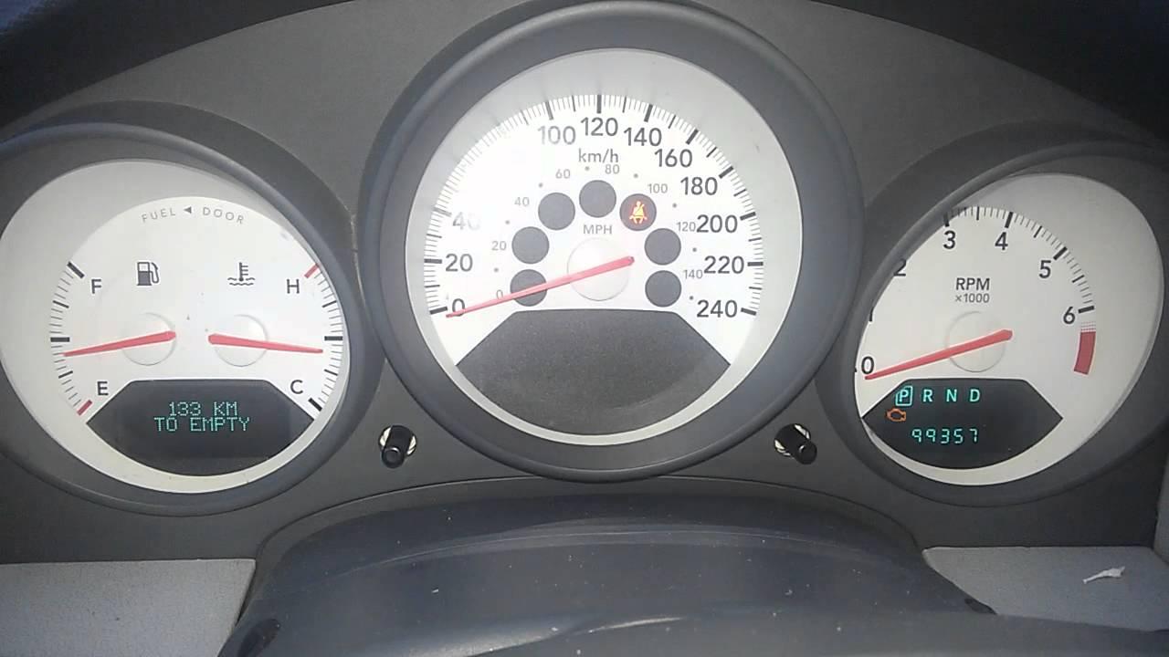 Запуск двигателя Dodge Caliber (Додж Калибер) после 3 дней стоянки .