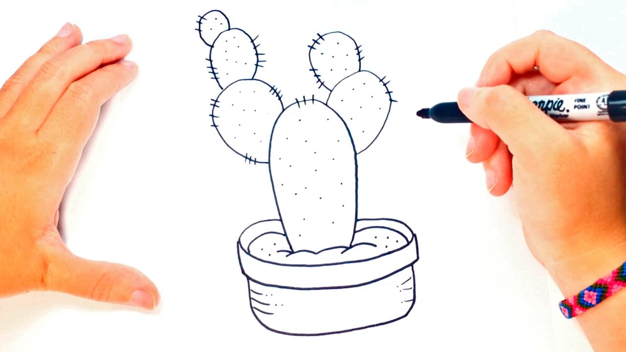 how to draw a cactus for kids cactus easy draw tutorial. Black Bedroom Furniture Sets. Home Design Ideas
