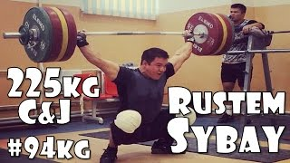 Rustem Sybay (KAZ, 94KG) | Olympic Weightlifting Training | Motivation