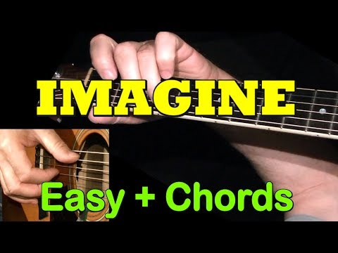 IMAGINE: Easy Guitar Lesson + TAB + CHORDS by GuitarNick