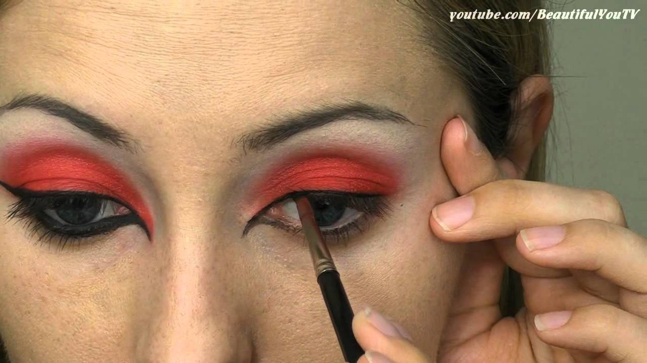 She Devil Halloween Makeup Tutorial - YouTube