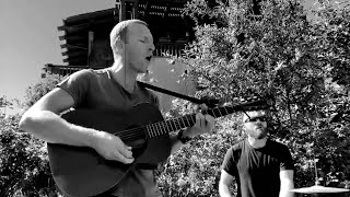 Coldplay - Orphans (Live + acoustic in Chris's garden) 2019